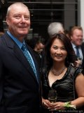 Douglas Kirwin (geologist, Kirwin Ore Deposits Collection) with Monica Lin (director of advancement at U of T)