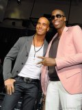 Ferris Rafauli, president and founder of Grandeur Luxury Homes; musician Kardinal Offishall.