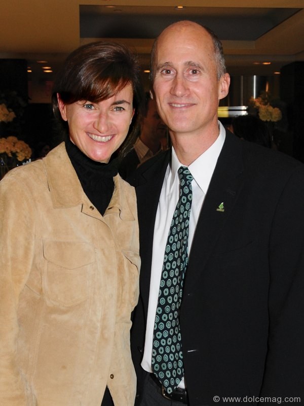 Valerie Laflamme with her husband, 2010 Tiffany Mark Award recipient Geoff Cape (founder and executive director of Evergreen)
