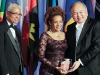 E. Nigel Harris, UWI chancellor and professor, Luminary Award recipient and former governor general Michaëlle Jean with gala patron G. Raymond Chang.