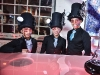 waitstaff sported specially made steampunk hats