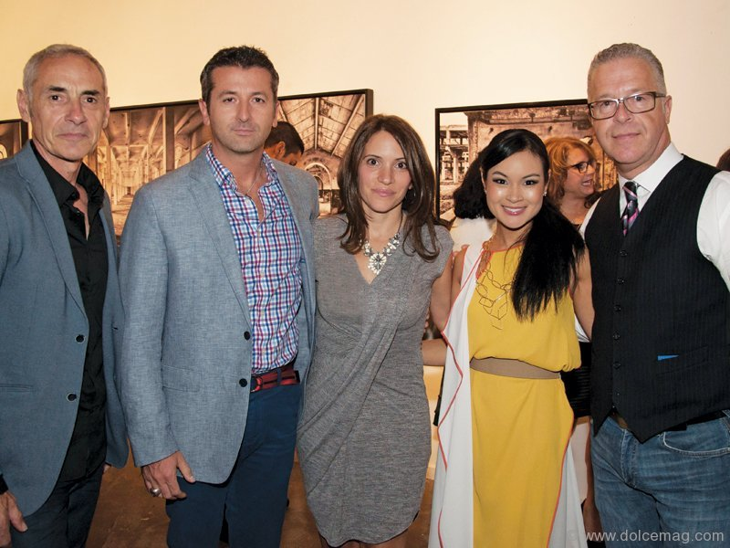 Giulio Muratori, featured photographer, with Fernando Zerillo, co-founder of Dolce Media Group; Angela Palmieri-Zerillo, director of operations of Dolce Media Group; Halcyon Tan, creative principal at Digital Imprint; and Joseph Manzoli, Colourfast president