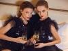 ALBERTA FERRETTI black sequined mini tulle dress from CARA Boutique (left) ALBERTA FERRETTI black sequined tulle body & tulle maxi skirt from CARA Boutique