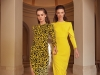 """ALEX PERRY """"Cole"""" velvet leopard dress from CARA Boutique. CASADEI """"Blade"""" black suede pumps from KALOGIROU (left) ALEX PERRY """"Hudson"""" yellow fitted dress from CARA Boutique & ALDO high-knee black suede boots (right)"""