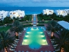 Twilight view of the resort\'s pool