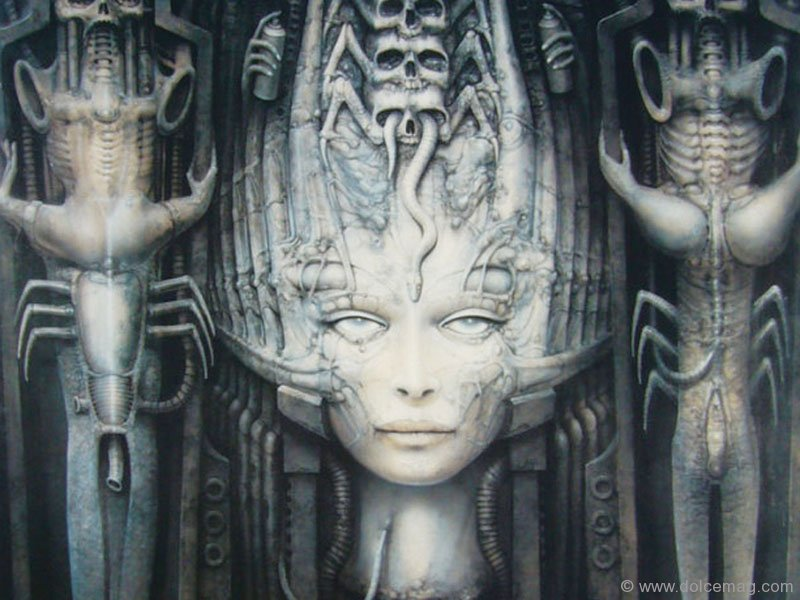 the life and art of hr giger A puzzle of alien beings and shifting landscapes, giger's art melds the sterile  sheen of  the body may have perished, but the spirit lives on.