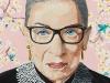 Ruth Bader Ginsburg sports a Lady Liberty pin  | Photo Courtesy of Ashley Longshore