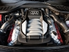 The clean design of the A8's V-8 engine may look reserved, but its 372-horsepower will take you from 0 – 100 kilometres per hour in under six seconds.