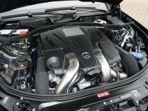The 2012 S 550's  4.6-litre, direct injected, twin-turbo V-8 engine. Photo by Omar Cushnie