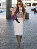 Victoria Beckham with baby Harper, IMAGES COURTESY OF AKM-GSI VIA CELEBRITYBABYSCOOP.COM