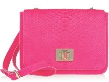CROSS MY HEART Fashioned with a pink python print, this medium-sized Emilio Pucci bag can be worn across the body to brighten your look.  www.net-a-porter.com