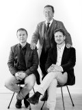 Javier Barba with his sons Jordi Barba, landscape architect and biologist, and Gabriel Barba, architect