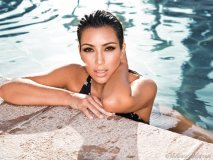 """Troy Jensen adds dramatic eyes and radiant skin for a poolside photo shoot with the sensual and mysterious Kim Kardashian, his celebrity client and close friend. """"She's our generation's sex symbol."""""""