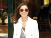 Michelle Yeoh is all smiles in front of the legendary Maison Guerlain in Paris.