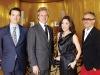 Thierry Wasser, Perfumer Guerlain, Laurent Boillot, CEO, Guerlain; Michelle Yeoh and Oliver Echaudemaison, creative director Guerlain.