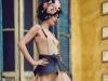 Dress: Alexander McQueen, Coat: Philipp Plein, Belt: Loewe, Shoes: Jimmy Choo