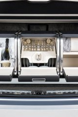 The Linley Hamper by Mulliner features, among other luxuries, Bentley champagne flutes and illuminated cooling compartments for bottles