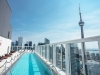 The hotel's rooftop, located on the 44th floor, features an infinity bar and intimate view of the city