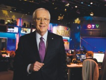 Brian Williams, CTV sports broadcaster and Canadian host for the Summer Olympics 2012 stands in the CTV Newsroom. (Photography by Jesse Milns)