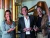 Barbara, Sandro and Stefano Bottega toast their family's success