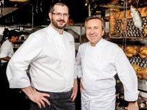 Café Boulud's chef de cuisine Sylvain Assié, left, and owner and culinary icon chef Daniel Boulud