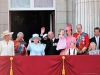 Queen Elizabeth Prince Philip & Royal Family. Prince George William, Kate, Charles -Balcony Buckingham Palace