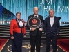 RCMP Commissioner Brenda Lucki, 2019 Inductee Jim Treliving, and David Foster