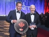 2019 Inductee Will Arnett accepting Canada's Walk of Fame star with father James Arnett
