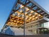 The grand entrance to the new paddock features a wooden roof, reflecting a return to natural design and materials | Photos by Steve Montpetit