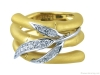 A symbol of good luck in various Eastern cultures, the Zen maxi ring in 18-karat yellow and white gold with diamonds is inspired by bamboo.  | Photos Courtesy Of Carrera Y Carrera Canada