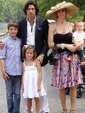 Family man Nacho seen here with his wife, model Delfina Blaquier and three children, Hilario, Aurora and Artemio.