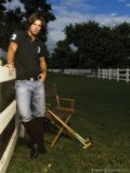 Polo player and model Nacho Figueras poses at a portrait session. (Photo by Vincent J. Ricardel)