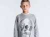MD Skull Patch Sweatshirt, Heather Grey and Star Leggings, Yellow