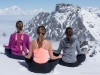 Designed and created by Elite Ski Team Co-Director, Aurélia Chrétien Pomès, Snowga offers an holistic approach to skiing designed particularly for women (but also available to men) based on the fundamental principles of yoga.