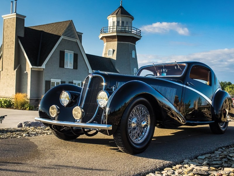 The 1936 Delahaye Type 135 Competition Court Teardrop Coupé, the best in-show winner