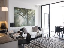 One of Expo City's model suites shines with minimalist dècor and luxury finishes.