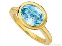 eternal blue topaz oval stacking ring