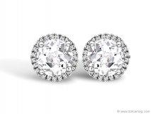 grace white topaz and diamond stud earrings