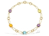 eternal cushion multi gemstone necklace