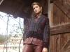 Leather shirt & pants: RICH & ROYAL | Cardigan & bag: ETRO | Earrings: THOMAS JIRGENS | Boots: UNÜTZER | Photography by Bela Raba