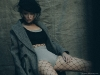 Coat: DICE KAYEK @dicekayek | Hat: BENOIT MISSOLIN @benoitmissolin @stationservice | Underwear: DROME @drome_official @publicimagepr | Bodysuit: DIOR @dior Jewels: HELENE ZUBELDIA @helenezubeldia | Photography by Thomas Louvagny