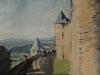 Sir Winston Spencer Churchill, Battlements  at Carcassonne, 1930s ©Churchill Heritage Ltd