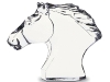 crystal horse head made in france