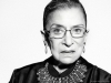 Justice Ginsburg wearing one of her famous dissent collars, which she wore when she dissented to a decision being handed down by the Supreme Court | Photo by Sofia Sanchez And Mauro Mongiello