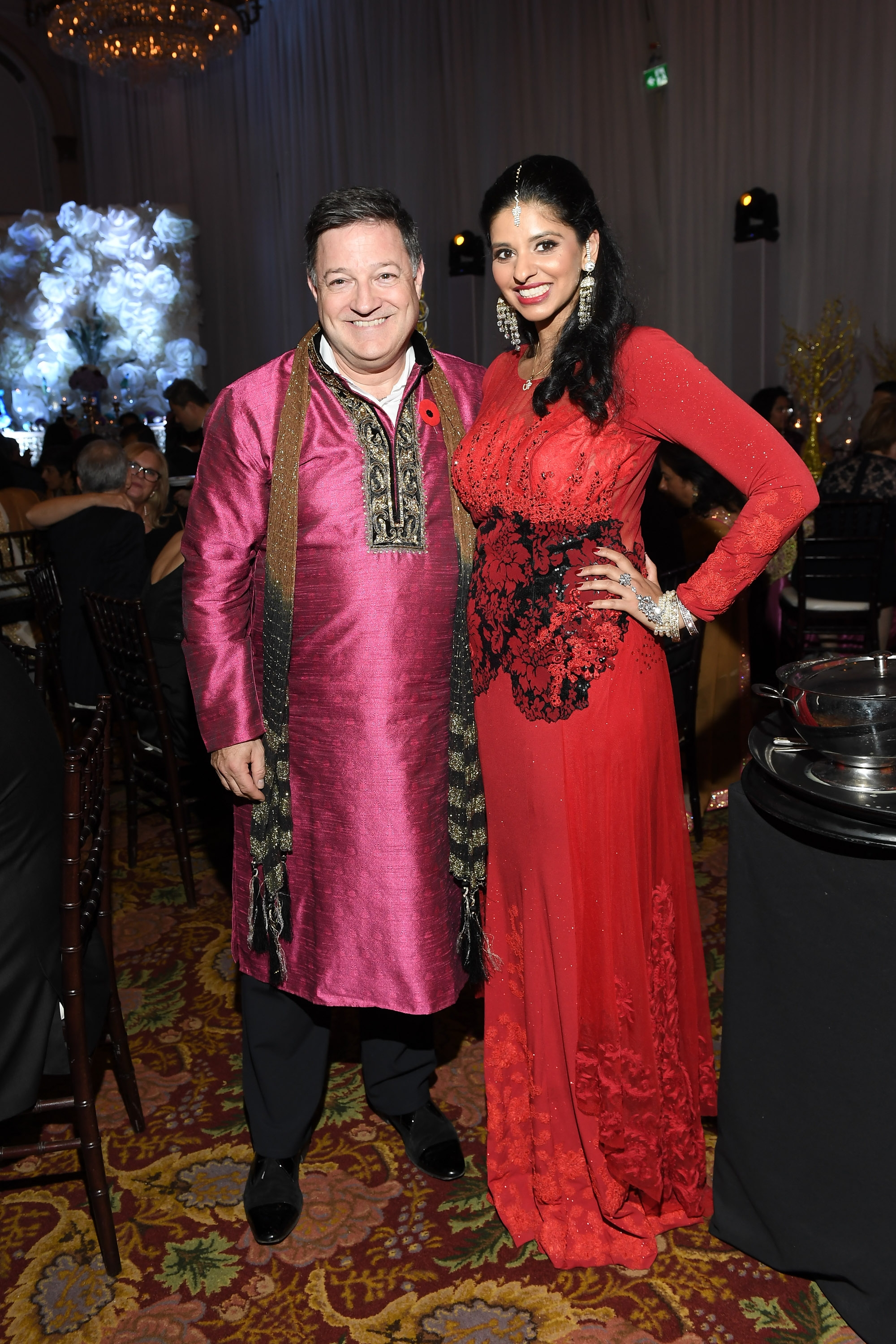 Diwali Emcee Kevin Frankish and Event Co-Chair Reetu Gupta