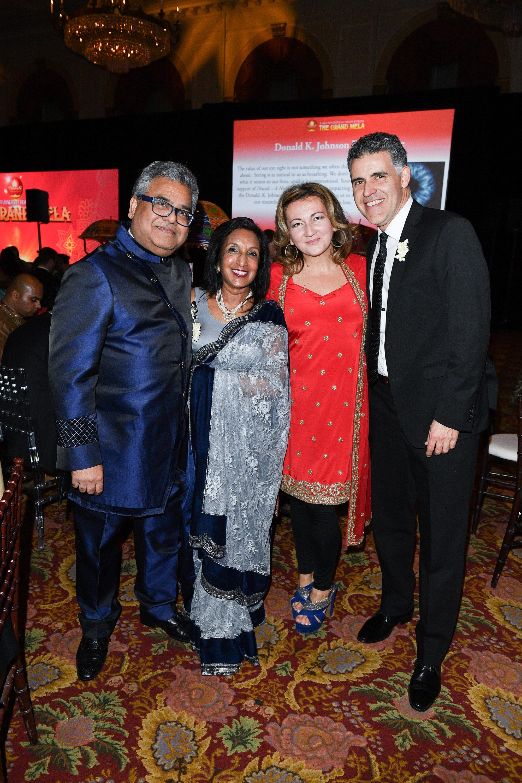 TGWHF Board Member Raj Kothari Shaila Kothari Michelle Zerillo-Sosa and Sergio Sosa