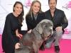 Danielle Eden, Jewel and Robert Scheinberg with Napa the mastiff