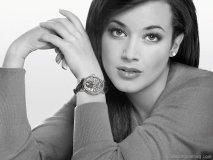 model wearing bovet watch