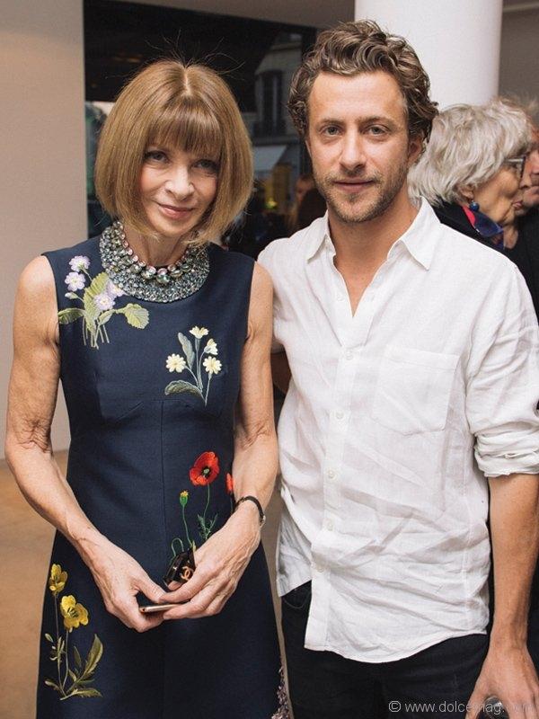 Anna Wintour and Francesco Carrozzini
