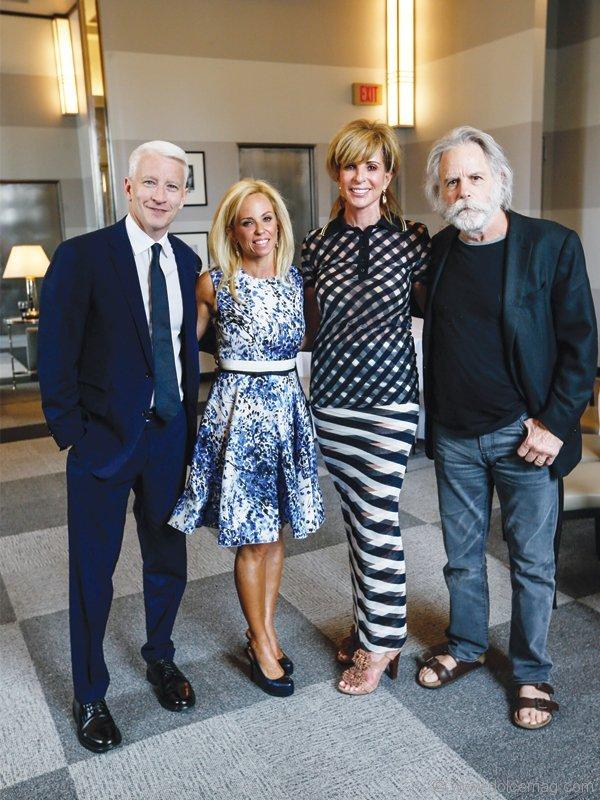 Anderson Cooper, Sara Gottlieb, Karen Simpson and Bob Weir